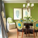 Blue Green Dining Room Design