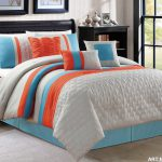 Blue Orange Bedding Electric White Spring