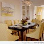 Bright Pretty Yellow Dining Room