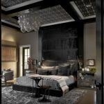 Bulb Glass Bedroom Chandelier Over Master Low Profile Bed Using Black Headboard