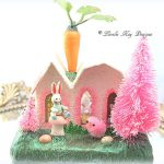 Bunny House Easter Decoration Putz