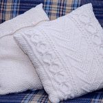 Cable Knit Pillow Cover Milk White
