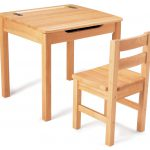Children Natural Wooden Desk