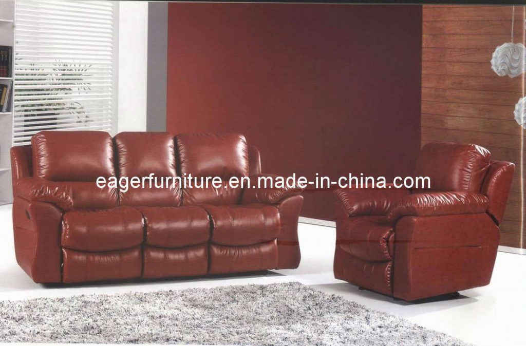 China Wine Color Recliner Leather