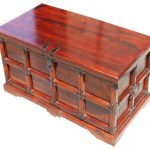 Claret Wooden Storage Chest Trunk Traditional Decorative Trunks Sierra Living