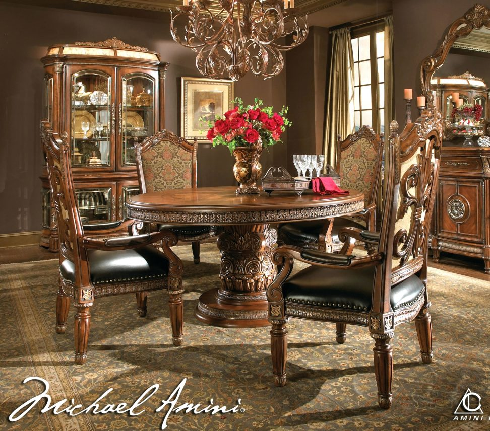 Classic Dining Table Modern Chairs Traditional Oak Igf