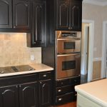 Collected Interior Black Painted Kitchen Cabinets Lacquer