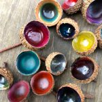 Colorful Acorn Caps Easiest Craft Ever Sturdy Common