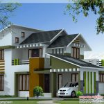 Contemporary House Kerala Ultra Modern Floor Plans Home