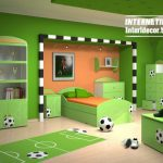 Cool Sports Kids Bedroom Themes Ideas Designs Interior Home