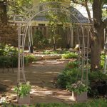 Coral Coast Jeweled Metal Arch Arbor Planters Arbors