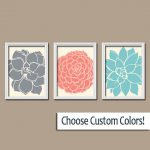 Coral Colored Wall Decor Bedroom Printable Flower