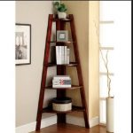 Corner Shelf Stand Wood Shelves Display Unit Storage Furniture Living Room
