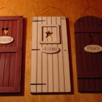 Country Outhouse Welcome Privy Rustic Bathroom Door Signs Set Home Decor