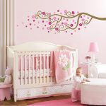 Cozy Pink Baby Bedroom Ideas Feather Carpet Decor Cute Walls Paint