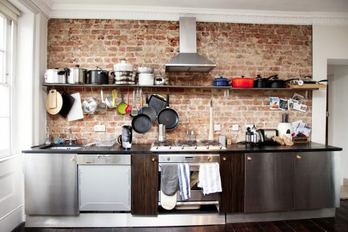 Creative Brick Wall Kitchen Design