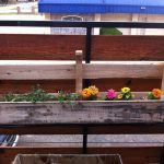 Custom Diy Hanging Planter Boxes Using Recycled Reclaimed Wood Railings