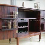 Danish Modern Brazilian Rosewood Portable Bar Cart