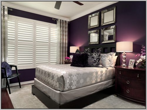 Dark Purple Wall Color Design