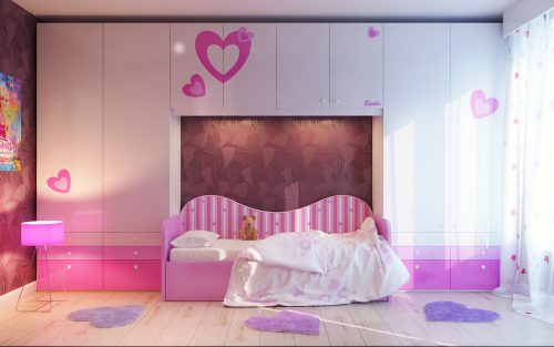 Ating Your Little Girls Bedroom Pink White