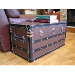 Decorative Sterling Medium Wood Steamer Trunk Wooden Treasure Hope Chest Shipping