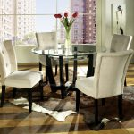Dining Tables Grey Room Chair Round Glass Table Centerpieces