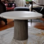 Diy Concrete Pedestal Table Red House
