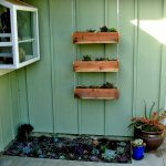 Diy Hanging Wood Planter Boxes Wall Chains Small Backyard Vegetable Garden Spaces