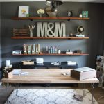 Diy Industrial Wood Office Shelving Modish