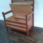 Diy Oak Chair Storage Arms Made Recycled Wood