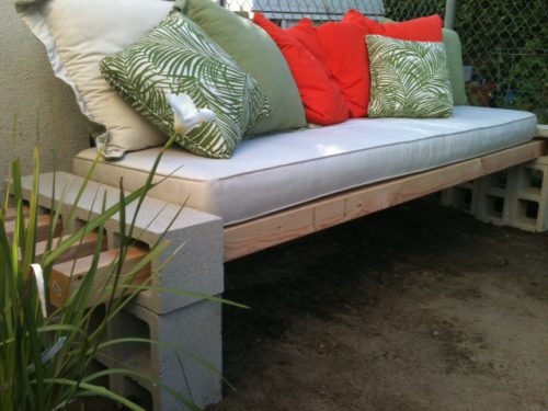 Diy Outdoor Bench Less Than