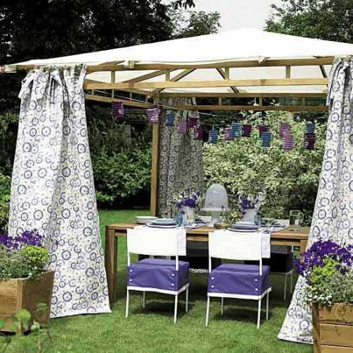 Diy Outdoor Curtains Sunshades Canopy Designs Summer