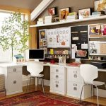 Double Small Home Office Desk