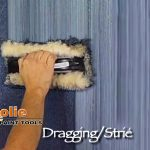 Dragging Strie Faux Finish Painting Woolie Paint Walls