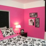 Dramatic Hot Pink Black White Teen Bedroom Contemporary Boston Lily