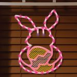 Easter Decorations Bunny Egg Lighted Window Silhouette American
