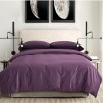 Egyptian Cotton Sheets Dark Deep Purple Ding Sets King Queen Quilt Duvet Cover
