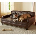 Enchanted Home Pet Library Sofa Bed Brown Pebble Dog Beds