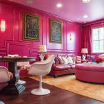 Endearing Hot Pink Living Room Design Inspiration Extremely