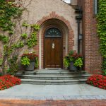 Entrance Plants Traditional Brick Wall Climbing Front