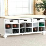 Entryway Shoe Storage Bench Coffee Table Stabbedinback