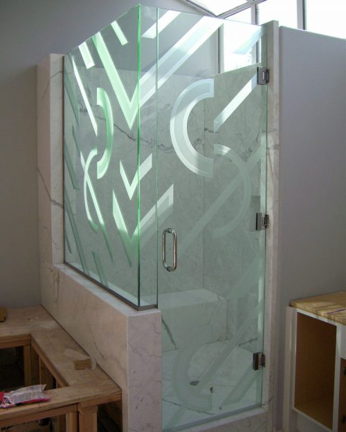 Etched Glass Showers Sans Soucie