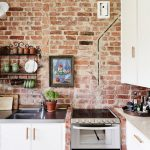 Exposed Brick Wall Kitchen Design Ideas Home