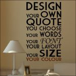 Extra Large Create Your Own Custom Wall Quote Design Sticker Transfer Decal Vinyl