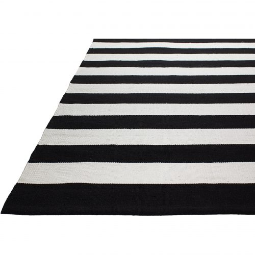 Fab Rugs Nantucket Striped Black White Indoor Outdoor Area Rug Reviews