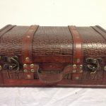Faux Leather Decorative Wooden Storage Trunk