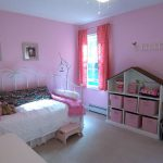 Favorable Little Girls Princess Pink Bedroom Interior Ideas Purple Painted Wall