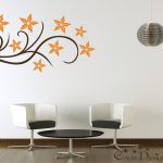 Floral Design Vinyl Decal Wall Decals Stickers