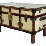 French Antique Trunk Coffee Table Omero