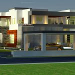 Front Elevation Square Meter Modern Contemporary House Plan